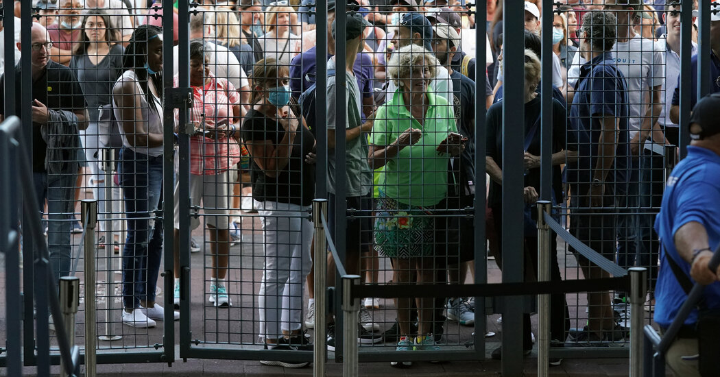 Fans Packed the U.S. Open on the First Day