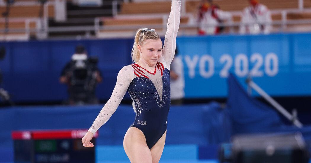 Jade Carey of the USA Wins Flooring Train Gold