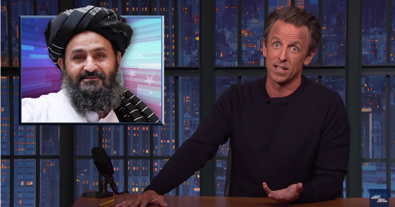 Seth Meyers Wants Trump to Stop Complimenting the Taliban