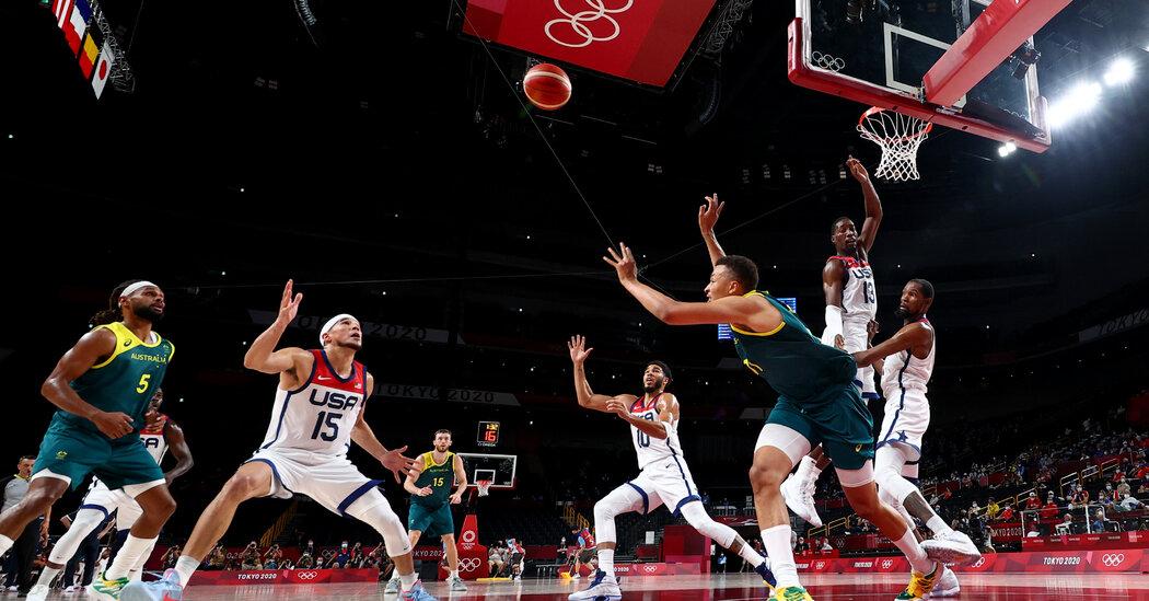 U.S. Males's Basketball In a Shut Recreation Towards Australia