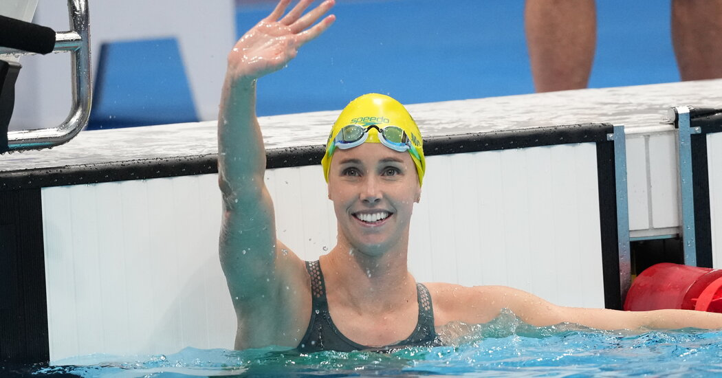 Who's the Most Embellished Olympic Swimmer in Tokyo? Emma McKeon of Australia.
