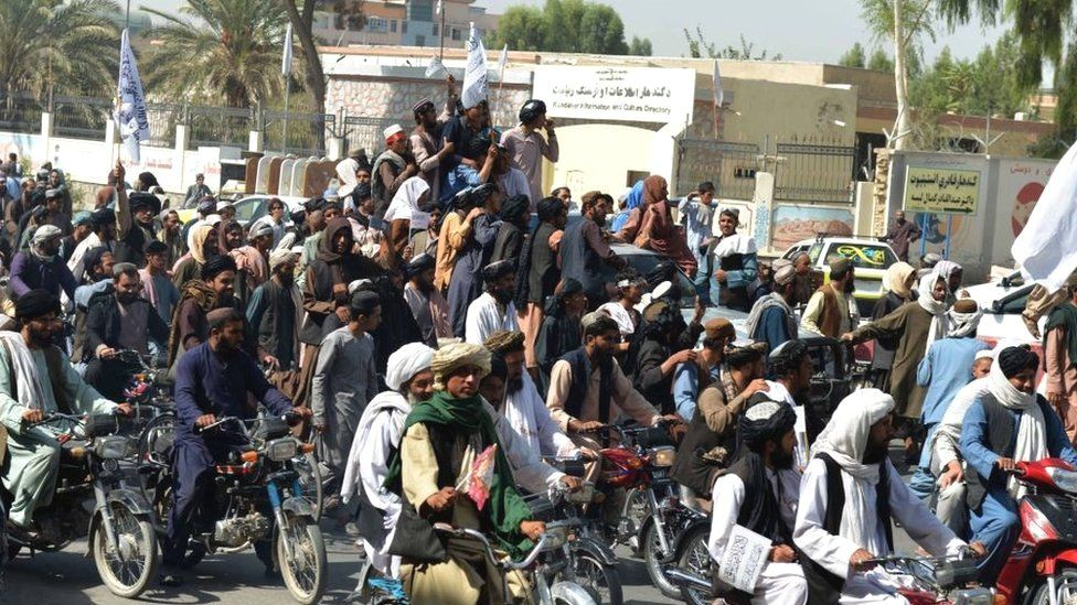 Afghanistan: Joe Biden defends US pull-out as Taliban claim victory