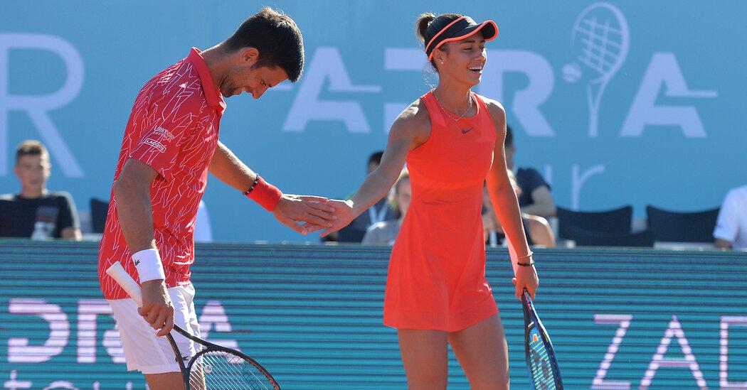 A Young Serbian Player Has a Not-So-Secret Weapon: Novak Djokovic