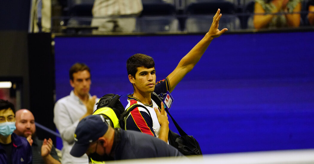 Carlos Alcaraz's Stirring U.S. Open Run Ends in the Quarterfinals