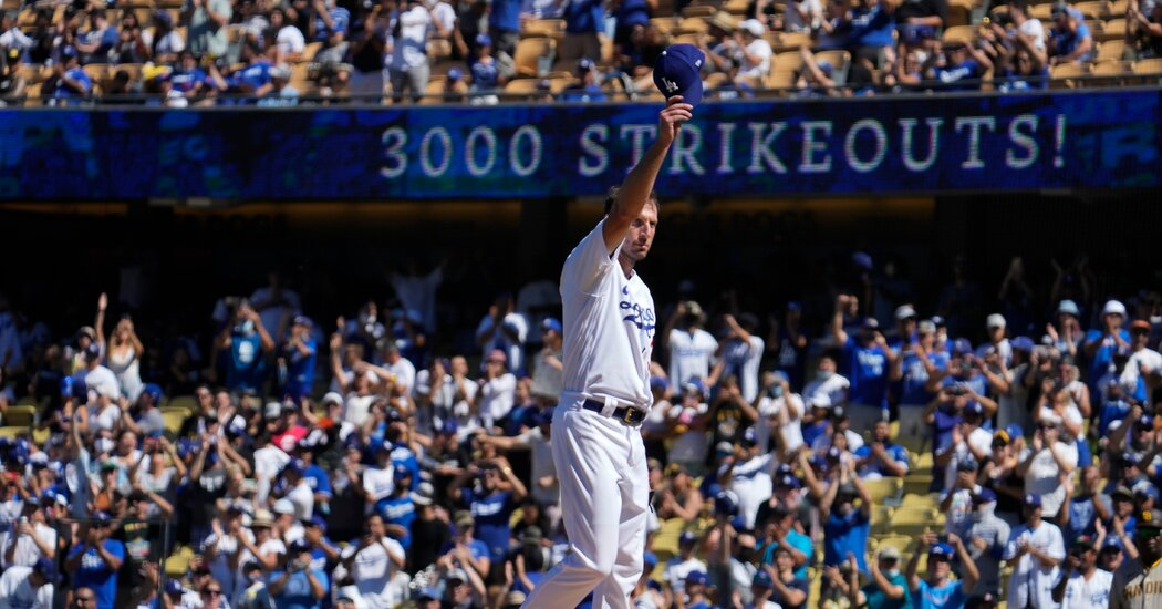 Dodgers' Max Scherzer Records His 3,000th Career Strikeout