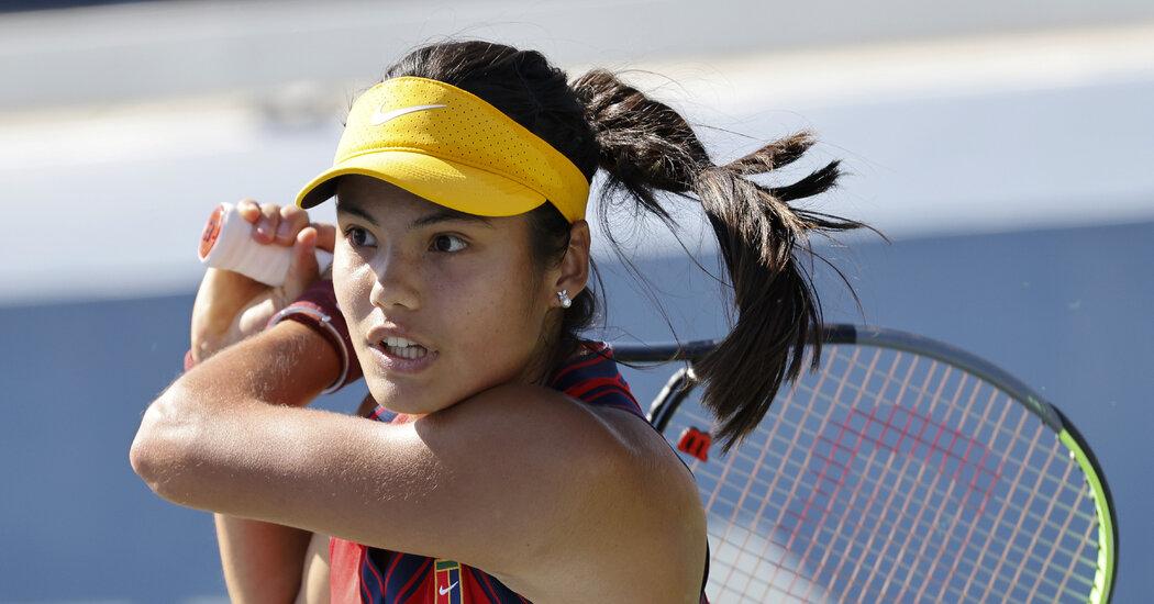 Emma Raducanu Plays Shelby Rogers at the U.S. Open