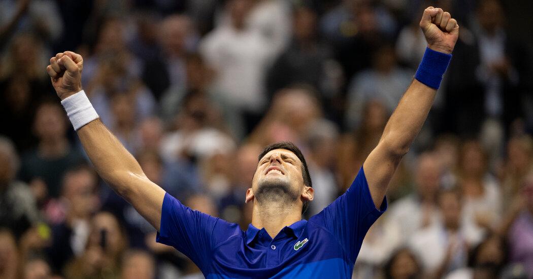 Novak Djokovic Reaches U.S. Open Final, One Victory From a Grand Slam