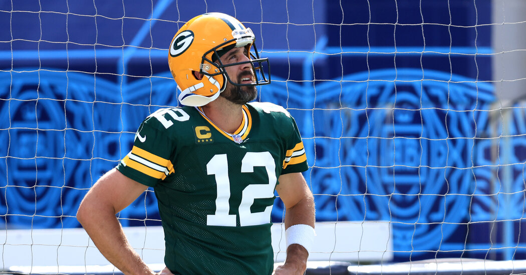 On a Rerouted Road Trip, Aaron Rodgers Looked Disoriented