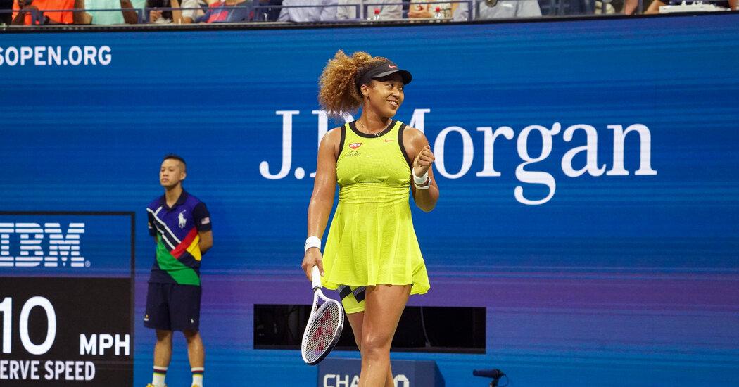 To Play Tennis, Naomi Osaka Finds a New Purpose. So Far, So Good.